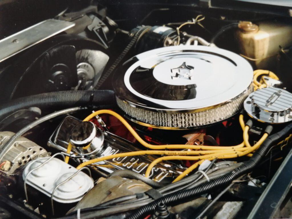 Motorraum der Corvette